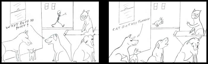 Cat Got his Tongue