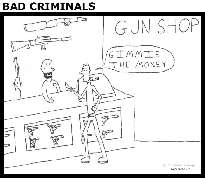 Worst Criminal - Gun Shop (heading)