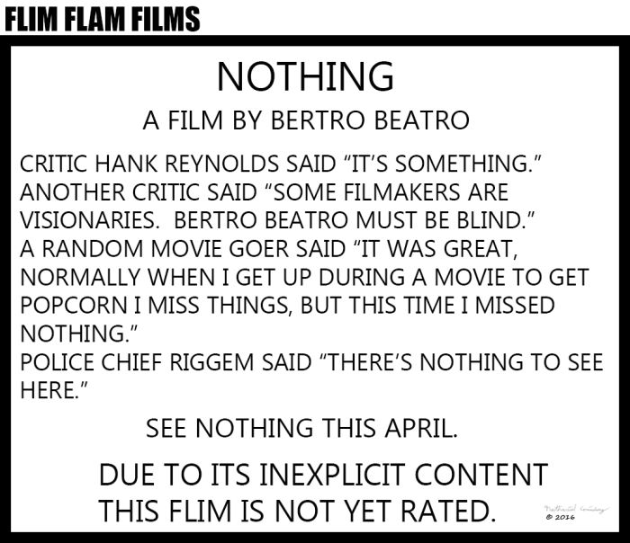 Flim Flam Films - Nothing