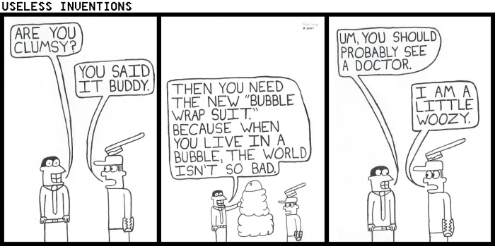 Useless Inventions - Bubble Wrap Suit