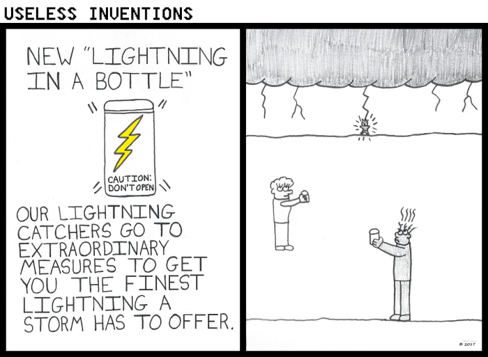 Useless Inventions - Lightning in a Bottle