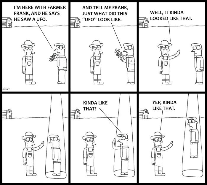 Farmer Sees UFO
