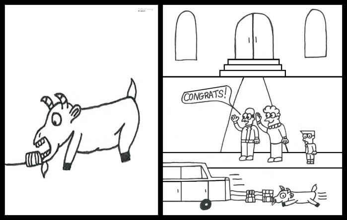 Goat Eats Tin Can