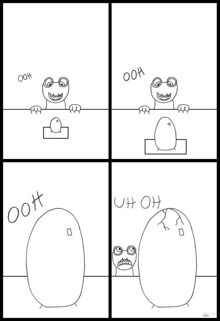 Lizard Sees Eggs