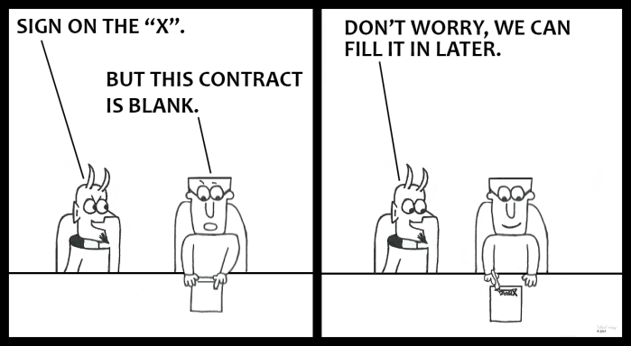Devil - Blank Contract