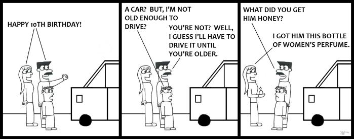 Family - Birthday Car