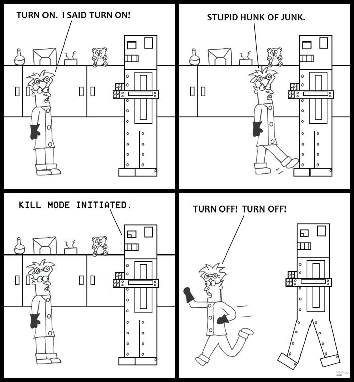Scientist Running 1